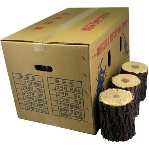 クヌギ産卵飼育材 特B レギュラー箱(24〜48本入)