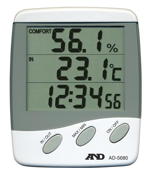 デジタル湿度・内外温度計